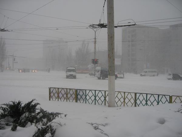 Сколько продлится снегопад в Украине